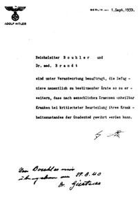Befehl vom 1.9.1939