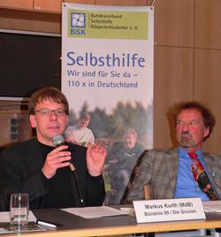 Das Foto zeigt von links: <br> MdB Markus Kurth und Karl Finke